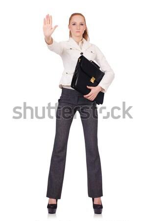 женщину деловая женщина изолированный белый девушки счастливым Сток-фото © Elnur