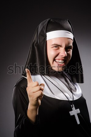 монахиня пистолет изолированный белый женщину девушки Сток-фото © Elnur
