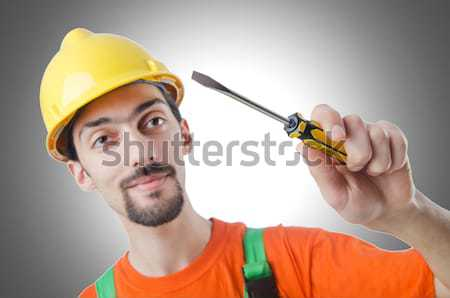 Violent man with baseball bat and hat Stock photo © Elnur