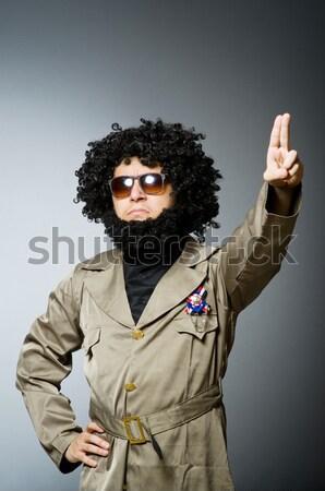 Engraçado soldado militar mão homem óculos Foto stock © Elnur