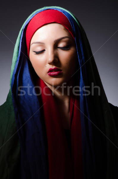 Portrait of the young woman with headscarf Stock photo © Elnur