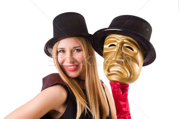 Donna teatro maschere isolato bianco faccia Foto d'archivio © Elnur