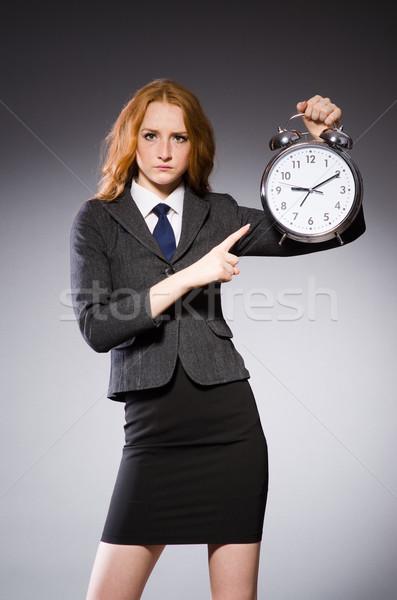 üzletasszony óra késő nő munka üzletember Stock fotó © Elnur