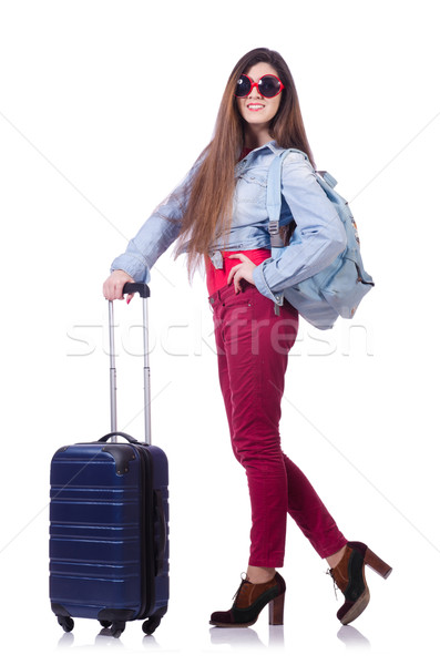 Young woman preparing for summer vacation Stock photo © Elnur