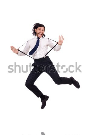 Jumping man isolated on white Stock photo © Elnur