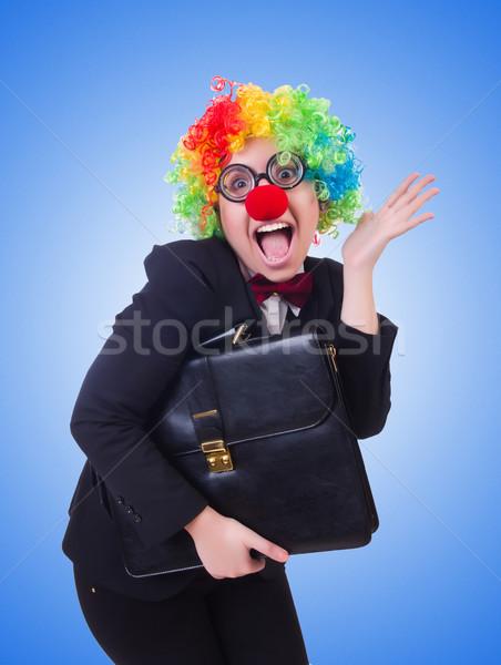 Stockfoto: Vrouw · clown · zakenvrouw · geïsoleerd · witte · partij