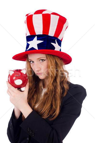 Cute nina americano símbolo sombrero Foto stock © Elnur