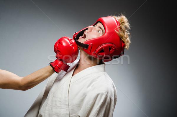 Engraçado boxeador esportes mão fundo diversão Foto stock © Elnur