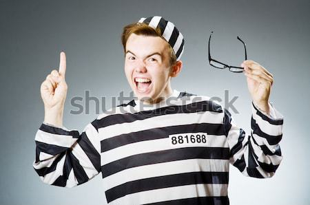 Funny prisoner in prison concept Stock photo © Elnur