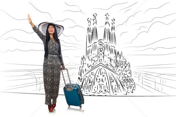 若い女性 旅行 スペイン 参照してください ファミリア 幸せ ストックフォト © Elnur