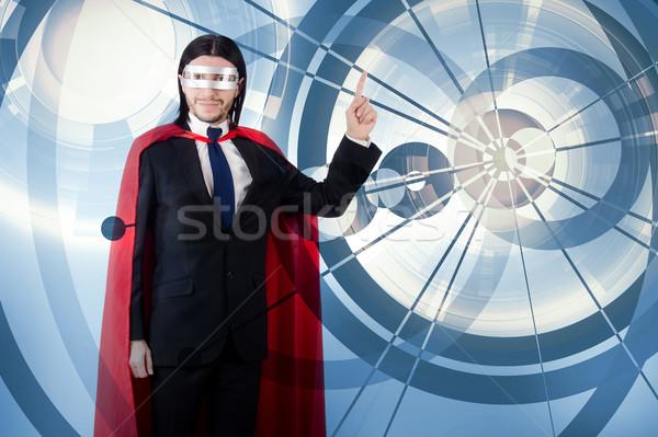 男 赤 カバー スーパーヒーロー ビジネス ビジネスマン ストックフォト © Elnur