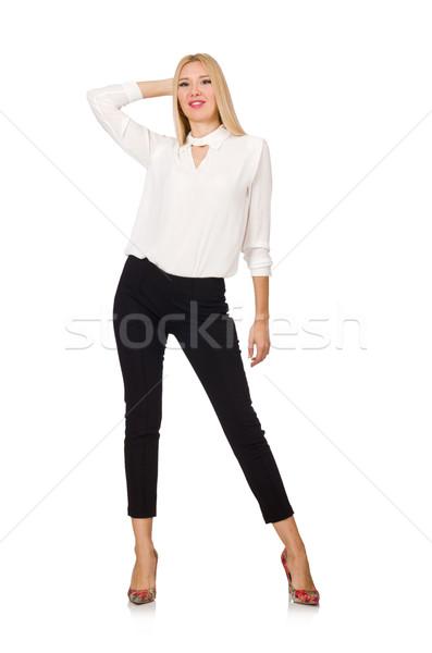 Frau tragen offiziellen Stil isoliert Stock foto © Elnur