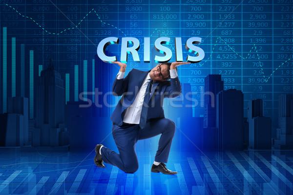 Empresario crisis negocios dinero empresarial mercado Foto stock © Elnur