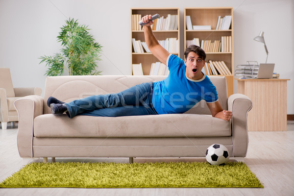 Homme regarder football maison heureux sport Photo stock © Elnur