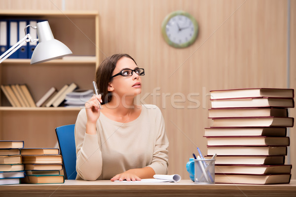 Young student preparing for university exams Stock photo © Elnur