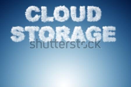Przechowywania Internetu sieci Chmura usługi Zdjęcia stock © Elnur