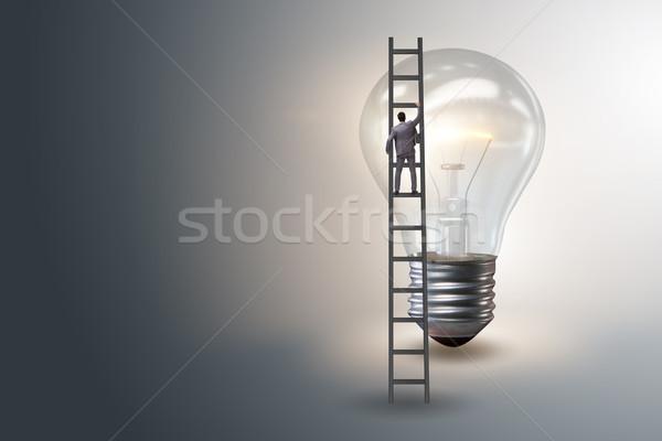 бизнесмен лестнице человека свет образование Сток-фото © Elnur