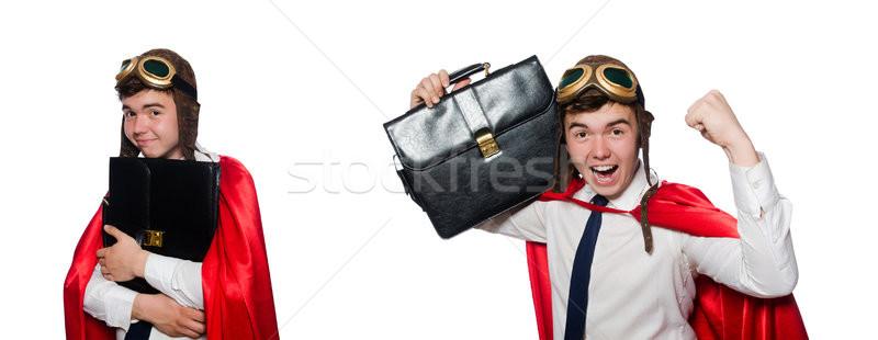 Funny tutaj teczki odizolowany biały wojny Zdjęcia stock © Elnur