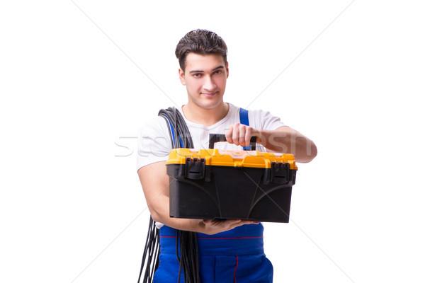 Man doing electrical repairs Stock photo © Elnur