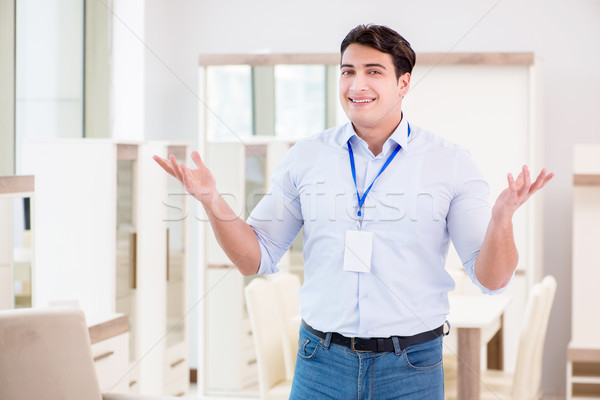 The sales assistant in furniture store Stock photo © Elnur