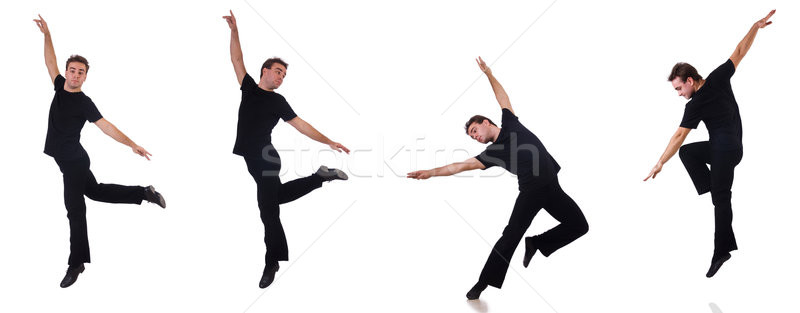Táncos izolált fehér férfi tánc modell Stock fotó © Elnur