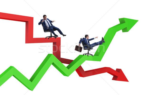 Biznesmen kryzys działalności człowiek tle Zdjęcia stock © Elnur