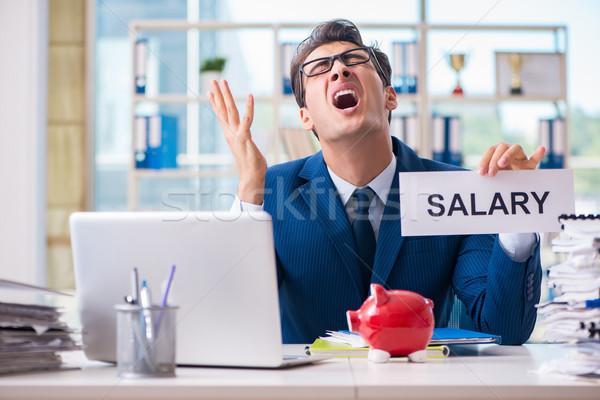 Biznesmen wynagrodzenie wzrost zakupy bezpieczeństwa smutne Zdjęcia stock © Elnur
