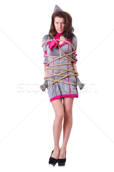 женщины веревку улыбка лице лет Сток-фото © Elnur