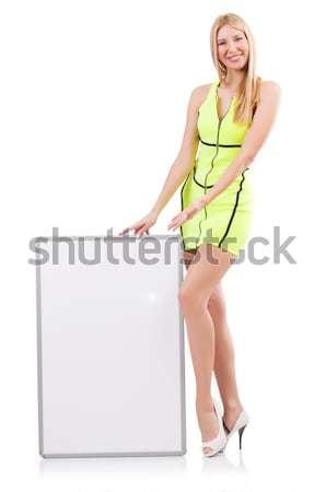 若い女性 ボード 白 笑顔 ファッション 夏 ストックフォト © Elnur