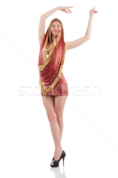 Girl dancing belly dance on white Stock photo © Elnur
