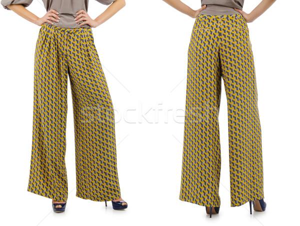 Pantolon model yalıtılmış kot deri kadın Stok fotoğraf © Elnur