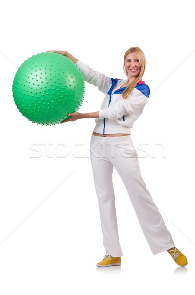 Young woman with swiss ball Stock photo © Elnur