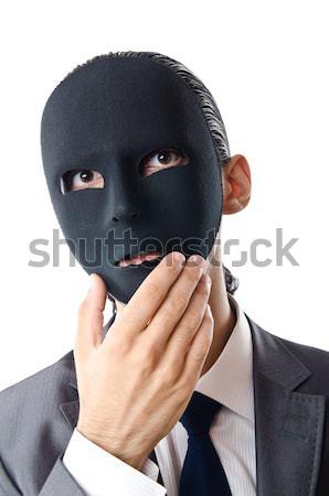 Gangster bolsas dinero blanco hombre máscara Foto stock © Elnur