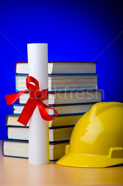 Industriële onderwijs boek student achtergrond Stockfoto © Elnur