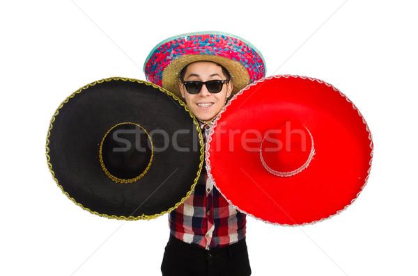 Grappig Mexicaanse sombrero partij man geluk Stockfoto © Elnur