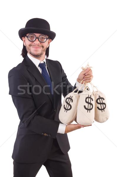 Сток-фото: человека · деньги · изолированный · белый · бизнеса