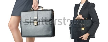 Businessman with sword on white Stock photo © Elnur