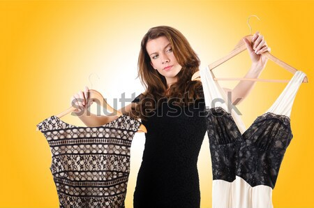 Woman with paper binder isolated on the white Stock photo © Elnur