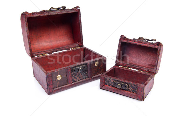 Two chests isolated on the white Stock photo © Elnur