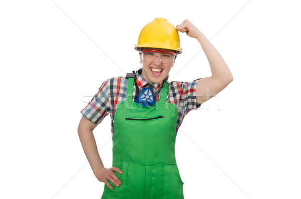 Female worker wearing coverall isolated on white Stock photo © Elnur