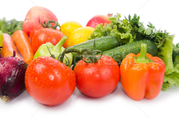 Assorted vegetables isolated on the white Stock photo © Elnur