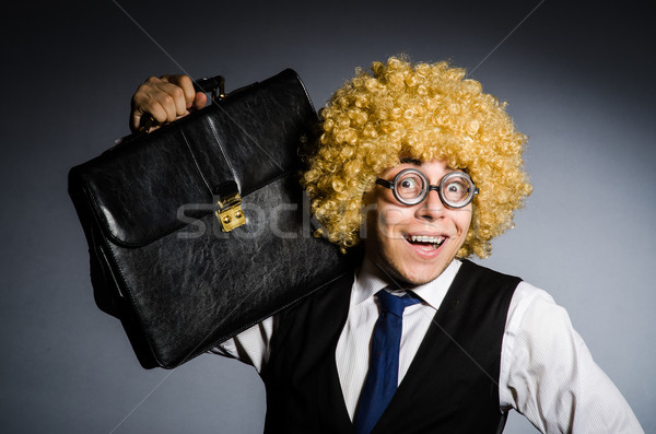 Funny businessman with curly hair Stock photo © Elnur