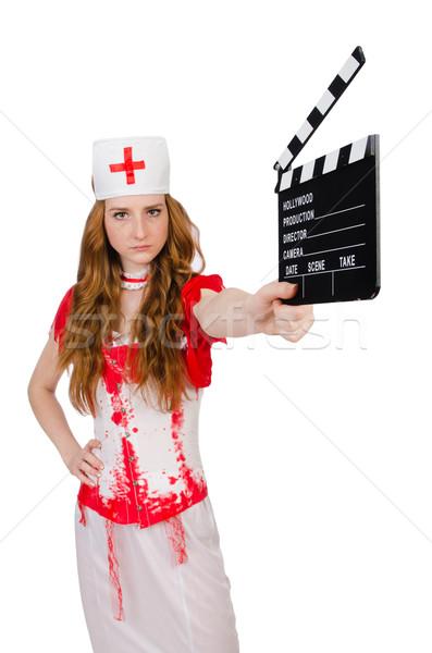 Mulher médico sangrento uniforme filme sensual Foto stock © Elnur