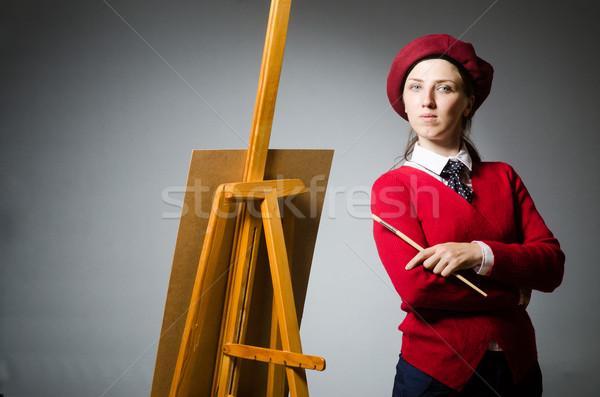 Komik sanatçı çalışma stüdyo çerçeve sanat Stok fotoğraf © Elnur