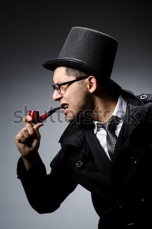 Penale nero cappotto grigio sfondo Foto d'archivio © Elnur