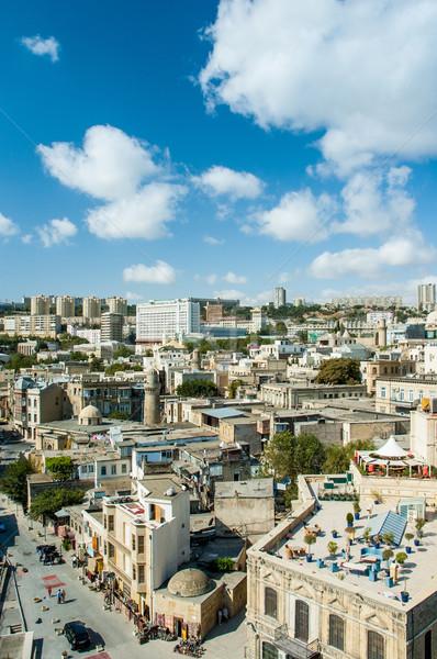 Vista Azerbaiyán brillante verano día ciudad Foto stock © Elnur