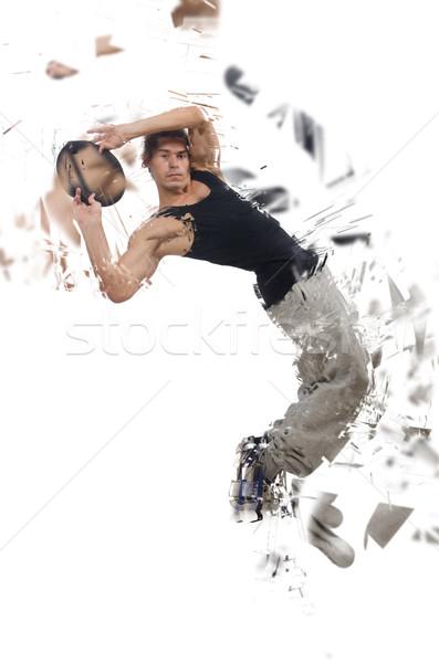 Danser dansen geïsoleerd witte partij dans Stockfoto © Elnur