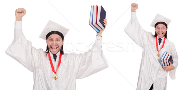 Young man ready for university graduation Stock photo © Elnur
