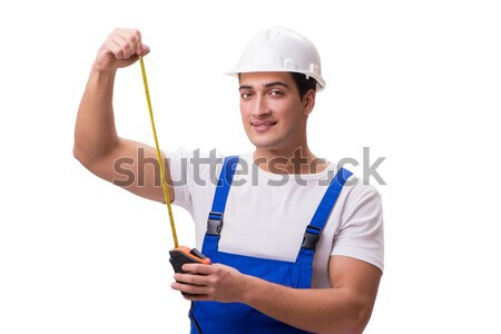 Man with axe isolated on the white Stock photo © Elnur