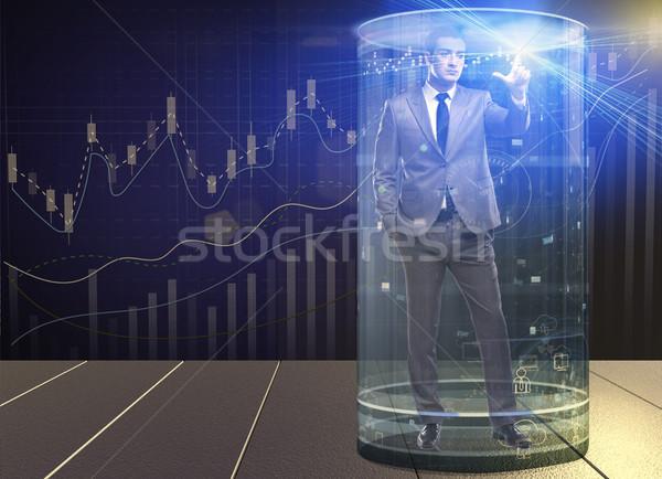 Om bursă de valori comercial bani muncă om de afaceri Imagine de stoc © Elnur